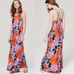 Loft Floral Boho Full Bloom Maxi Dress Size 6P